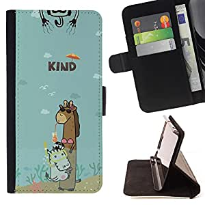 Jordan Colourful Shop - FOR Samsung Galaxy A3 - girl can put up with you - Leather Case Absorciš®n cubierta de la caja de alto impacto