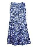 Colourful Womens Bodycon Folk Style Girls Islamic All-Match Muslim Short Skirts Royal Blue L
