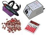 High Quality Nail Art Drill Machine Manicure Pedicure Pen Tool Set Kit+30pcs Nail Drill Bit+100pcs Sanding Bands