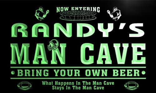 ADVPRO qa078-g Randy's Man Cave Max 63% OFF Ranking TOP5 Football Bar Beer Neon Game Room