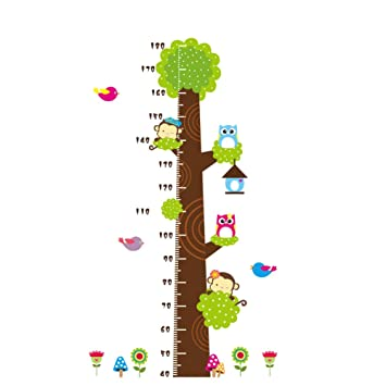 Amazon Height Measurement Growth Chart Tree Cute Monkey And