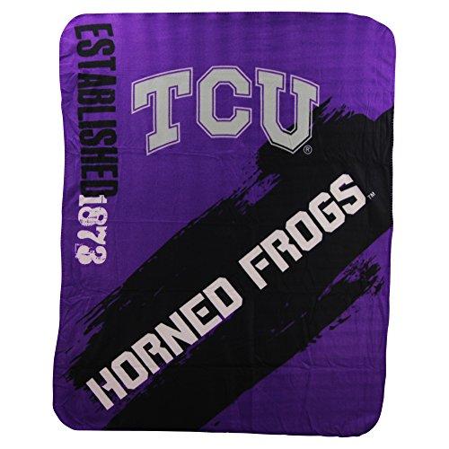 The Northwest Company NCAA Collegiate School Logo Fleece Blanket (Texas Christian Horned Frogs)