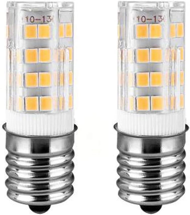 E17 LED T7 T8 Intermediate Base, LED Appliance Bulb, Dimmable AC110V - 130V,Pack of 2 Microwave Oven Light Bulbs