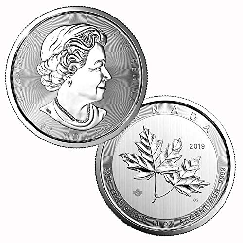 2019 10 oz $50 .9999 Silver Canada Maple Leaf $50 Brilliant Uncirculated