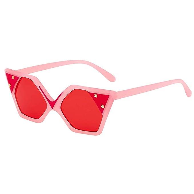 Mymyguoe Dama Gafas de Sol Mujeres Vintage Gafas de Sol Forma Irregular Retro Gafas de protección