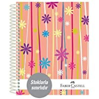 Faber-Castell 5075400508 Sert Kapak Sep.4+1 Çiçekler Defter 80gr, 200 Yaprak