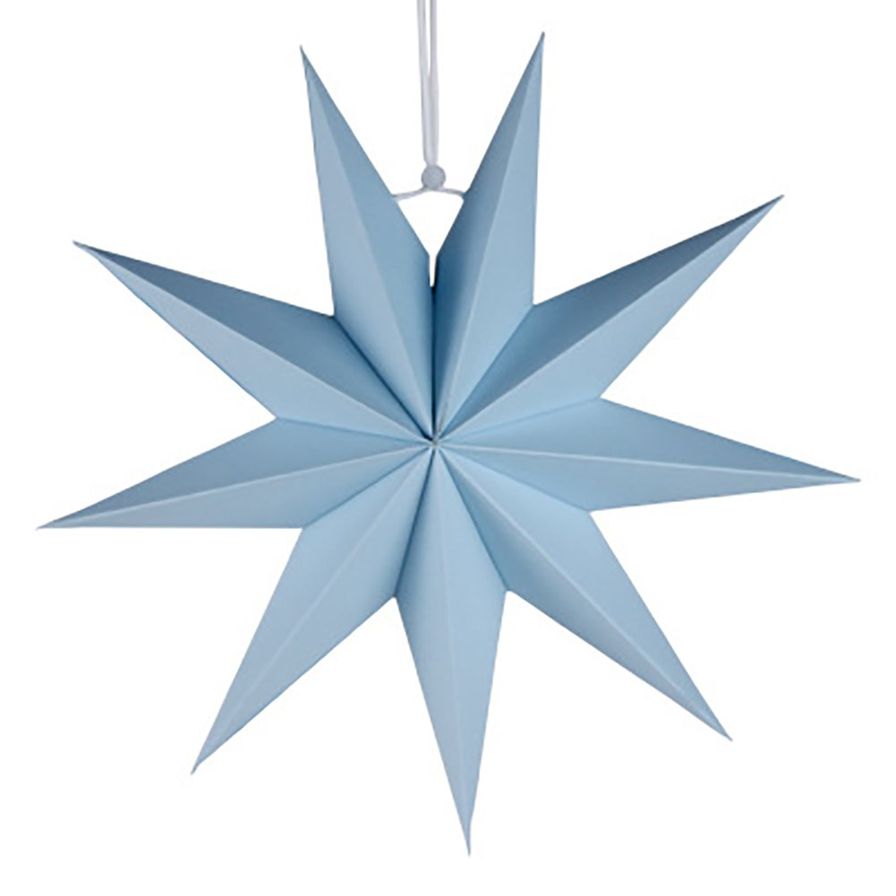AchidistviQ 30cm Nine-pointed Star Paper Hanging Decoration for Kids Room Party Classroom Black