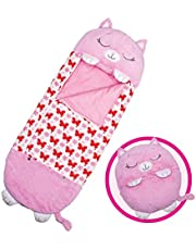 """Happy Nappers Pillow & Sleepy Sack- Comfy, Cozy, Compact, Super Soft, Warm, All Season, Sleeping Bag with Pillow- Medium 54"""" x 20"""""""