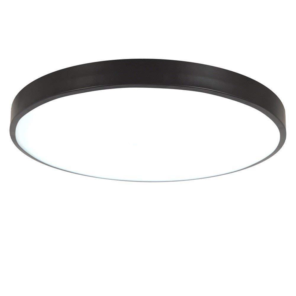 NOCHX Runder Deckenlampe Ultradü nn LED Deckenleuchte, schwarz, 30cm Warmes Licht