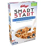 Kellogg's Smart Start, Breakfast Cereal, Original Antioxidants, 17.5 oz Box(Pack of 4)