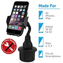 Macally MCUPMP Adjustable Automobile Cup Holder for iPhone, iPod, Smartphones, MP3 and GPS-Black