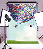 hot air balloon prop - LFEEY Sweet Hot Air Balloon 5x7ft Photography Background Blue Sky Clouds Colorful Balloon Photo Shoot Props Video Drape Wallpaper Girl Kid Portrait