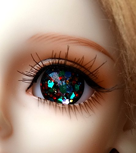 1 Pair Handmade Acrylic Green Red Blue Half Ball Eyes for BJD Dollfie SD Doll