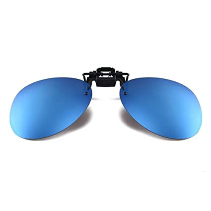 Amazon.com: yuekuantai 1 par azul claro anteojos de sol clip ...