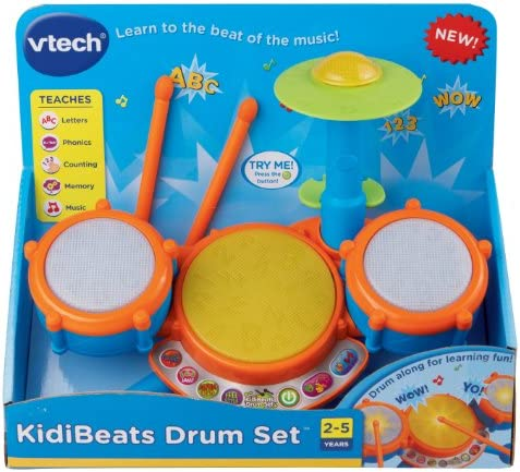 toys, games, learning, education, musical instruments,  drums, percussion 9 picture VTech KidiBeats Kids Drum Set in USA