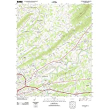 "Topographic Map Poster - JOHN SEVIER, TN TNM GEOPDF 7.5X7.5 GRID 24000-SCALE TM 2012 16"" x 20"""