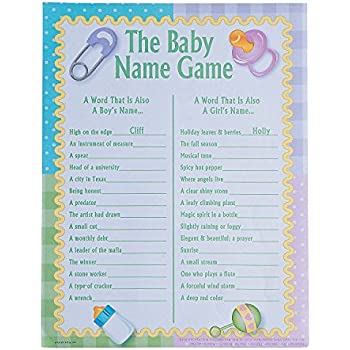 This Item The Baby Name Game   Baby Shower Game (2 Dz)