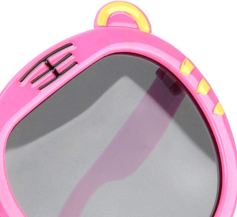 Occhiali da sole anti-UV bimbi Occhiali da sole morbidi in gel di silice per bambini Occhiali da bambino fantasia a cartoni animati Rosato