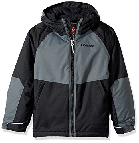 Columbia Boys Alpine Action ii Jacket, Black/Graphite, 2 Tall
