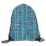 Watercolor Fine Lines Printing Drawstring Backpack Rucksack Shoulder Bags Gym Bag