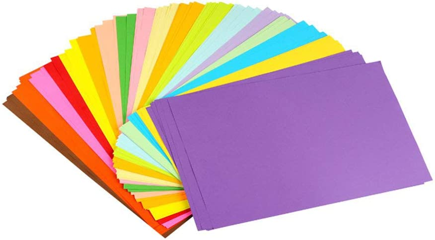 Aierliusa Colored Paper Colored A4 Copy Paper Paper more Fun at Crafting Decorating Cut-to-size Paper 100 Sheets 10 Different Colors for DIY Art Craft (20 30cm) : Office Products