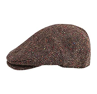 761e61a09 Hanna Hats of Donegal.Irish Flat Cap.Donegal Tweed.Brown Salt and ...