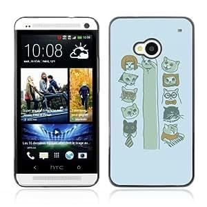 YOYOSHOP [Funny MEME CAT*s LOL KEYBOARD LONG] HTC One M7 Case