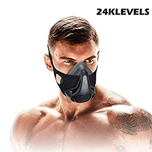 Training Mask Sport Vital Capacity Running 24/48 Breathing Resistance Levels Training Mask Fitness Mask High Altitude…