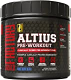 ALTIUS Pre-Workout Supplement - Naturally Sweetened - Clinically Dosed Powerhouse Formulation - Increase Energy & Focus, Enhance Endurance - Boost Strength, Pumps, & Performance - Mixed Berry Blast, NET.WT. 14.3 oz (406.6g)