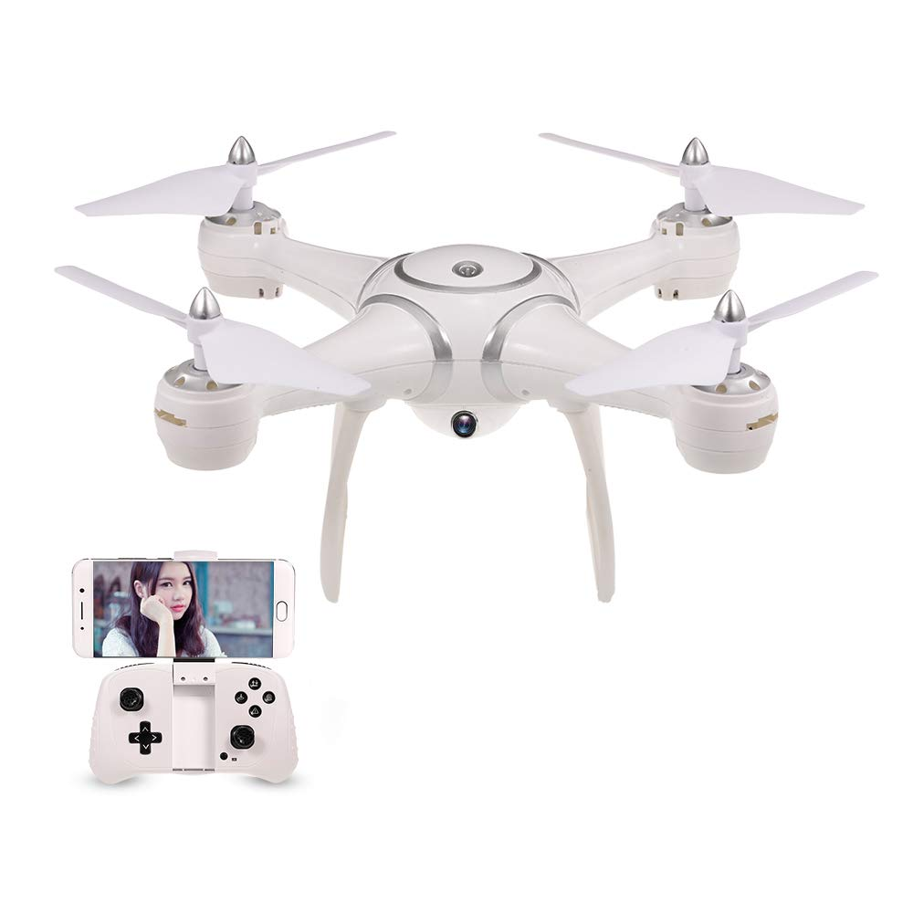 CDM product GoolRC S7W Quadcopter Drone with 720P HD Camera Live Video WiFi FPV Sd Card Inserted Altitude Hold One Key Return G-Sensor LED Lights high/Middle/Low Speed RC Kids Gift (White) big image