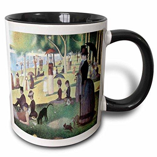 ay Afternoon on the Island of La Grande Jatte by Georges-Pierre Seurat - Two Tone Black Mug, 11oz (mug_127363_4), , Black/White (Georges Seurat Grande Jatte)