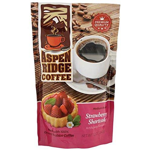 ASPEN RIDGE STRAWBERRY SHORTCAKE MEDIUM ROAST COFFEE 12 OZ.