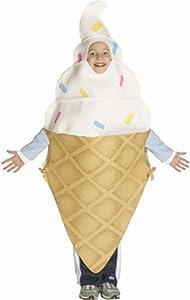 Child's Ice Cream Cone Funny Food Costume (Size: 8-10)