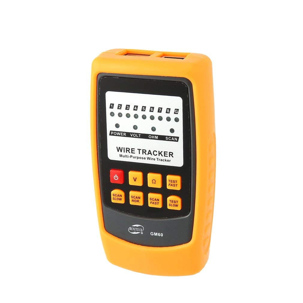 GM60 Cable Transmitter Receiver Detector Track Tracer Wires Cable Tester (Color:Orange&Grey&Black) - - Amazon.com