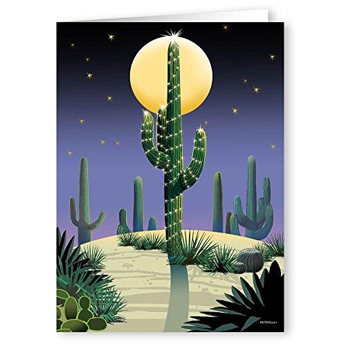 Desert Saguaro Holiday Card - 18 Cards & ()
