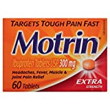 Motrin 300 mg Tablets, Extra Strength, 60 Count