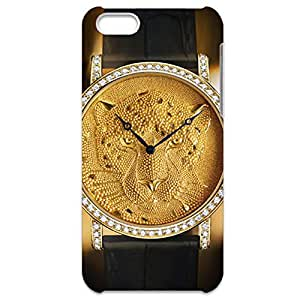 Cartier Phone Case Series Luxury Watch Customized Thin Protective Plastic 3D Case Cover L6M076 For Iphone 5C