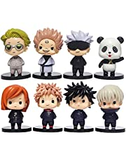 Jujutsu Kaisen: Q-versie 8 stks Figuur Gojo Satoru, Itadori Yuji, Fushiguro Megumi Figures Speelgoed