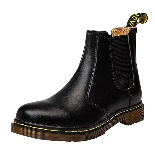 Chelsea Boots Hombres Gamuza Cuero Boda Seguridad Brogue Clásico Martin Botas Botas Cortas Zapatos Casuales: Amazon.es: Zapatos y complementos