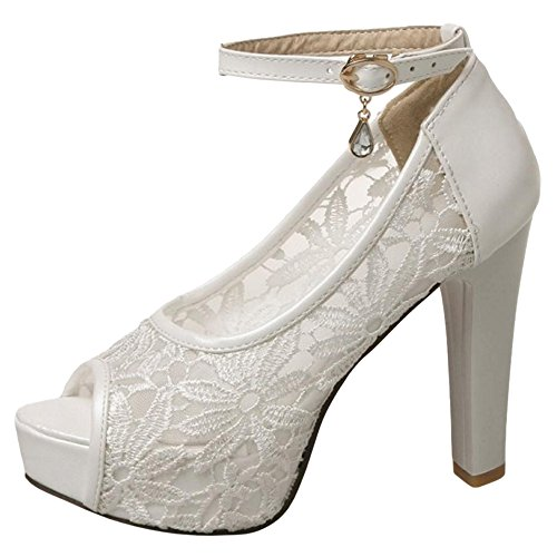 VulusValas Femmes White Bout Chaussures Ouvert Sandales ZrqPrdU61w
