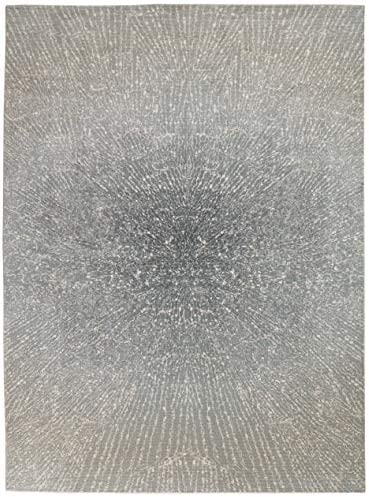 Inspire Me Home D cor Elegance Blue, Grey and White Contemporary Area Rug 7 10 X 10 6