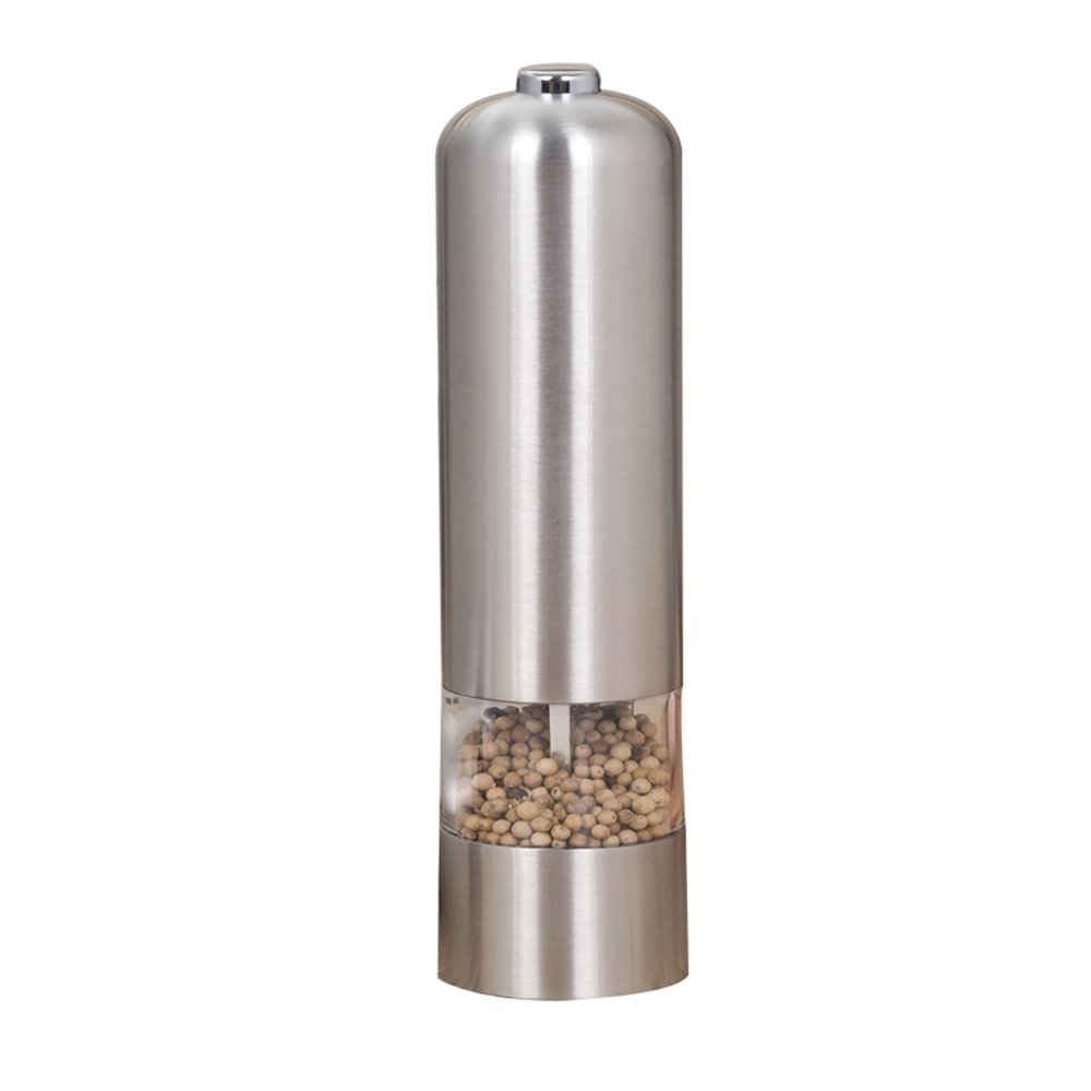 Zorvo Automatic Electric Pepper Grinder Spice Mill Salt Grinder Kitchen tool | One-Touch Operation | Durable,Friction-Resistant Stainless Steel