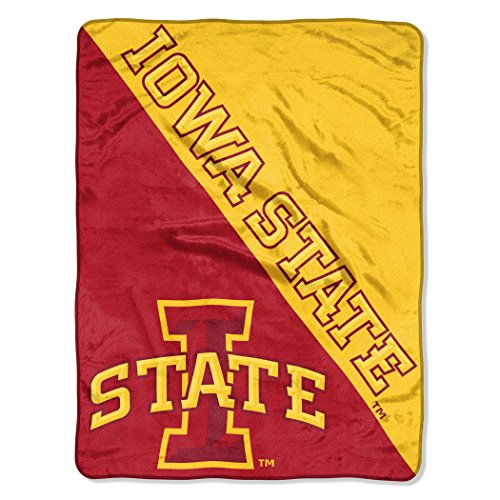 NCAA Iowa State Cyclones Halftone Micro Raschel Throw, 46