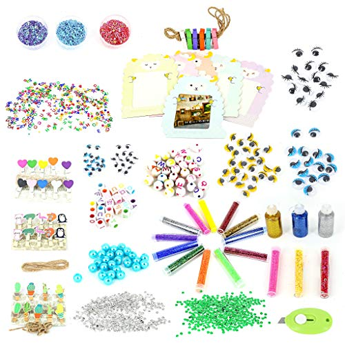 Pickme Craft Decor Set - 70 Pcs Decorative Elements for Art and Craft Projects. Glitters, Sequins, Mini-Clothespins, Beads, Stars, Hearts and More - Perfect Addition to Your Pickme Crafting Box #6