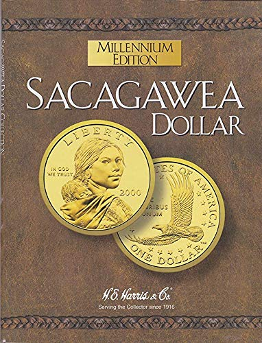 2000 Hard Cover Millennium Edition Sacagawea Dollar Folder 2000-2004 Empty by H.E. Harris & Co Album