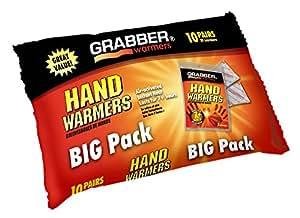 Grabber HWPP10 Big Pack Hand Warmers, 10-Pairs