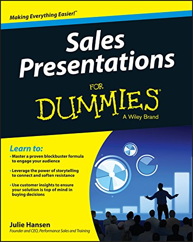 Are your sales presentations stuck in the 20th century?  Sales Presentations For Dummies rises to the challenge of guiding you through the process of engaging and persuading busy buyers in a world that's constantly bombarding them with sales pitc...
