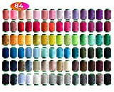 84 Colors Sewing Thread Assortment Coil 250 Yards Each,Sewing Kit All Purpose Polyester Thread for Hand (Mix)