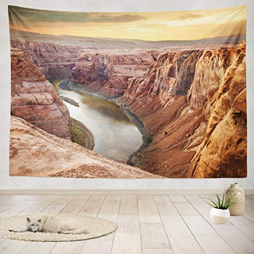 ASOCO Tapestry Wall Handing Colorado River Deep Southwest Southwest Arizona Colorado Sunset America Wall Tapestry for Bedroom Living Room Tablecloth Dorm 60X80 Inches