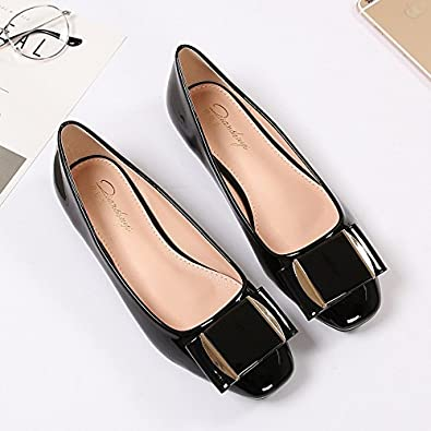 d121e9893fb VULK Comfortable Bow Tie Shoe flat with the shoes square head single ...